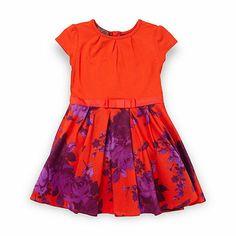 Baker by Ted Baker Girls orange rose dress- at Debenhams.com