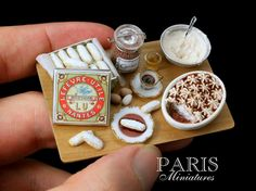 Tiramisu Preparation Board | Handmade in 12th scale | Flickr