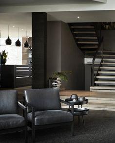 Stryn • Slettvoll Modern Bathroom, House Design, Interior Design, Chair, Furniture, Lifestyle, Home Decor, White Oak Floors, Exposed Beams
