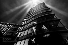 Frankfurter Welle by Fehrum. @go4fotos Opera House, Wonderland, Fine Art, Black And White, Building, Travel, Waves, Black White, Construction