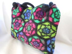 Felted Wool handbag Stained Glass Inspired Original by LJDBags, $130.00