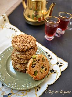 barazek cookies with sesame and honey--I want to try these with cardamom simple syrup!