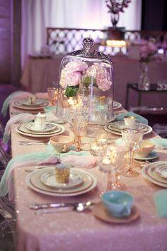 Cristal y flores para centro de mesas.