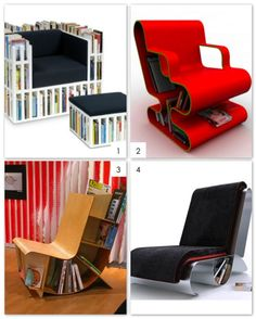 Multifunctional Bookcase Seat 1-4 by Design Wotcha! http://designwotcha.com/, via Flickr