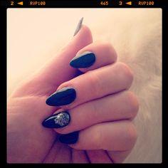 Black stiletto nails for my birthday New Orleans trip.