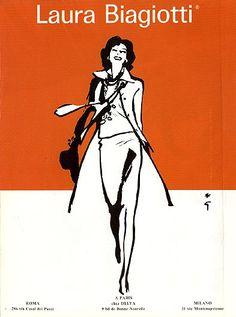 1960, René Gruau, a renowned fashion illustrator (1909-2004)  http://www.renegruau.com