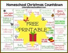 Homeschool Christmas