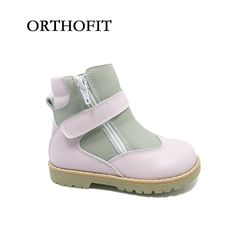 55.00$  Watch now - Spring/autumn orthopedic kids shoes genuine leather ankle boots shoes for girls   #aliexpressideas