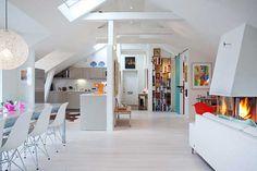 Apartamento con un Plan de Piso Abierto y Brillante en Estocolmo