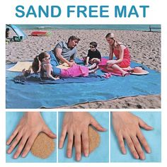 Sports & Entertainment Camping & Hiking Upgrade Magic Sand Mat Beach Sandless Outdoor Waterproof Blanket Travel Summer Vacation Camping Sandfree Mat Beach Blanket Pleasant In After-Taste