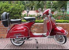 1965 Vespa VBC Super- Cherry Red