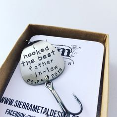 Father in law gift fishing gift for future father on wedding day fil fishing gift fatherinlaw gift fishing lure www.sierrametaldesign.com