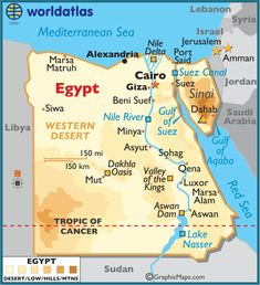 Egypt large color map