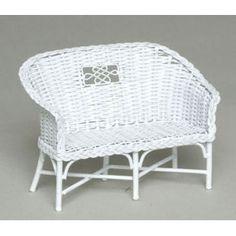 how to dollhouse wicker furniture | Rattan Wicker Bench