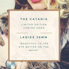 """The ladies limited edition 36mm """"Catania"""" in rose gold. Use the coupon code """"launch"""" for a 10% discount off your purchase."""