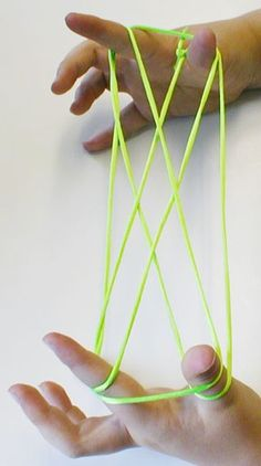 Cat's Cradle - I remember doing Jacob's Ladder, Candlesticks and Witches Hat.  We played this ALL the time!