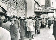 Men stand in a line to see The Most Honorable Elijah Muhammad speak, 1964 — in Chicago, Illinois. Elijah Muhammad, Chicago Photos, Malcolm X, My Town, Old Things, Street View, Black And White, Landscape, Park