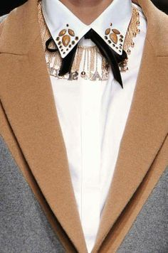 androgynous, embellished collar, necklace