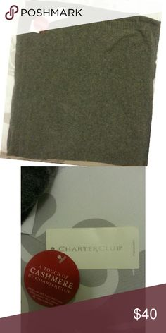 Charter Club | Cashmere Oversized Scarf Wrap This is a cute Charcoal Scarf Wrap from Charter Club. This scarf wrap is perfect for any occasion. This scarf originally retails for $169.00 . If you have any questions about this Scarf Wrap, feel free to ask!  // No Trades. // // Please don't advertise your closet. // Charter Club Accessories Scarves & Wraps