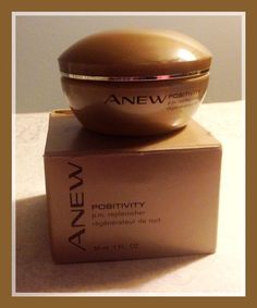 New Avon Anew Positivity P.M. Replenisher Cream - 1 fl. oz. - NIB w/free gift! #Avon