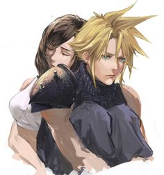 Final Fantasy 3, Final Fantasy Artwork, Final Fantasy Characters, Cloud And Tifa, Cloud Strife, New Fire Emblem, Tifa Lockhart, Cg Artwork, Fan Art