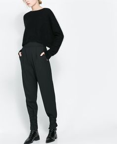 ZARA - WOMAN - TROUSERS WITH ANKLE STRAPS