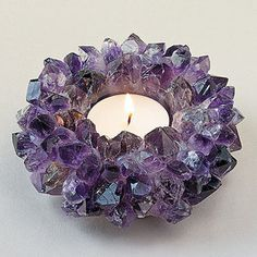 Amethyst Blossom Votive Holder