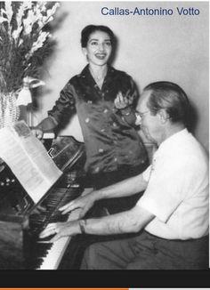 Maria Callas com Antonino Votto