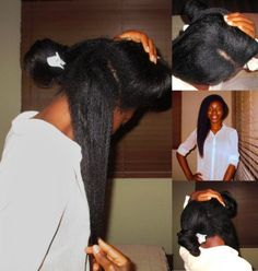 """Hair tips HOW I GREW WAIST LENGTH RELAXED HAIR IN 4 YEARS Many of you may-not be conversant with the term """"Relaxer"""". A relaxer is a process that involves the application of a chemical cream substance to curly, coily and kinky hair to give it… Relaxed Hair Regimen, Relaxed Hair Growth, Long Relaxed Hair, Relaxed Hair Journey, Short Relaxed Hairstyles, Healthy Relaxed Hair, Permed Hairstyles, Healthy Hair, Simple Hairstyles"""