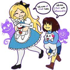 [Crossover] Alice in Wonderland / Undertale by Rumay-Chian on DeviantArt