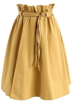 Rhythm of Leisure Flap Skirt in Mustard - New Arrivals - Retro, Indie and Unique Fashion