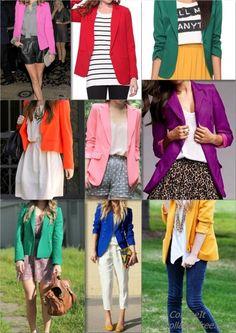 Colored blazers!