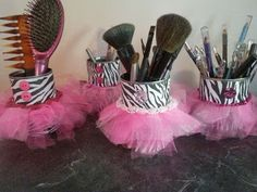 Hot Glue & Sparkle - Cutest DIY Blog EVER!!!!!!!!! Love the zebra print tutu cans!!!!!