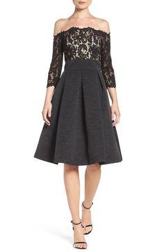 Eliza J Off the Shoulder A-Line Dress (Regular & Petite) available at #Nordstrom