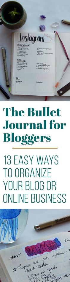Every blogger knows that running a blog can be exhausting. There's so much to do at any given time! Posts to write, images to edit, ideas to remember, notes to take, projects to juggle.... it's madness! So I have a suggestion for handling all that information in one easy way: the bullet journal for bloggers. Using a bullet journal can help you plan and organize all facets of your life, but it's especially useful for running your online business. And it can travel with you anywhere to help…
