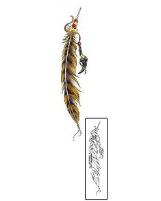 This Feather tattoo design from our Miscellaneous tattoo category was created by Cherry Creek Flash. This download contains a printable original size color reference, and professional matching stencil. Tattoo Johnny is the brand that most professionals trust.