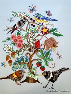 Loveday Crewelwork : The Tree is Alive! The Unbroken Thread