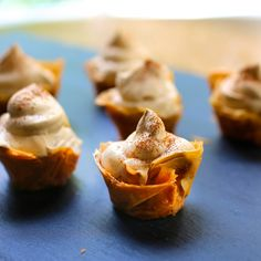 Mini Phyllo Cups with Cappuccino Cream