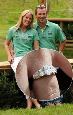 Autumn Kelly debuted the beautiful ring given to her by Princess Anne's son Peter Phillips at an equestrian event in August 2007. All eyes were on the Queen's grandson and his 29-year-old fiancée, and royal watchers were rewarded with the first sight of the three stone white gold ring. Featuring an oval shaped diamond at its centre.