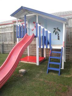 Duplex cubby house. My Cubby. #kids #play #outdoors