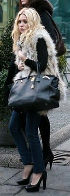 My Birkin Blog: Ashley Olsen 40 Birkin Bag in black with gold hard...