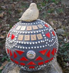 Bowling Balls are GREAT to recycle in the garden, just think what you could do! Let your inspiration come out.