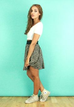 Vintage Leopard Print Mini Skirt @asosmarketplace