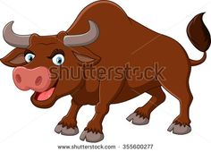 Cartoon Bull Stock Photos, Images, & Pictures   Shutterstock