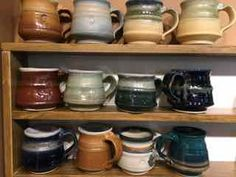 Selection of Fat mugs Pottery, Mugs, Studio, Tableware, Fat, Ceramica, Dinnerware, Cups, Dishes