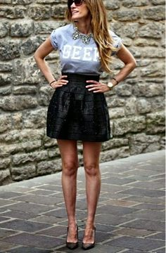 How to Chic: GET THE BLOGGERS LOOK - GEEK TEE