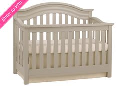 WIN IT! One Project Nursery reader will win the Riverside Convertible Crib from Baby Cache in Dove Gray (a $500 value).