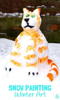 SNOW PAINTING, a fabulous Winter art activity for kids.