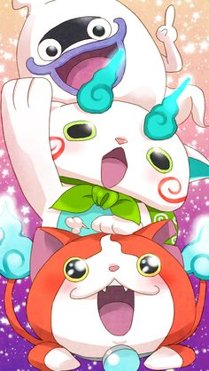 Yo-Kai Watch | Whisper, Komasan and Jibanyan