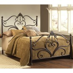 Newton Iron Bed by Hillsdale Furniture | Wrought Iron Metal Bed Headboard Only Footboard Frame